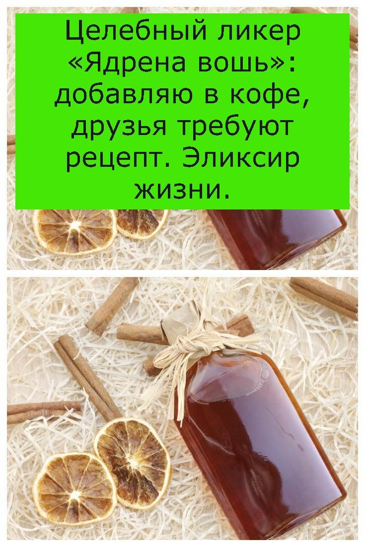 Целебный ликер «Ядрена вошь»: добавляю в кофе, друзья требуют рецепт. Эликсир жизни.
