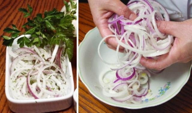Даже не сомневайтесь, лук съедят первым — маринованный лук к шашлыку. Лучшая закуска!